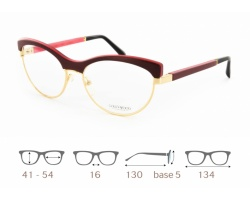Mona 01 Gold & Wood glasses, luxury, opthalmic eyeglasses