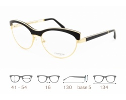Mona 02 Gold & Wood glasses, luxury, opthalmic eyeglasses